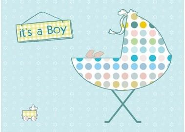 Postkaart it`s a boy