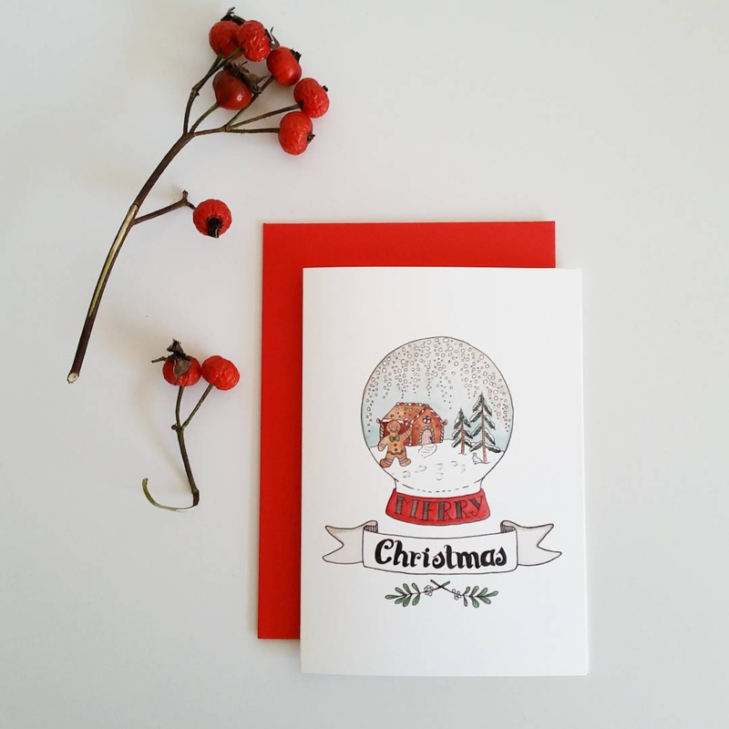 Kerstkaart Gingerbread - Stolp