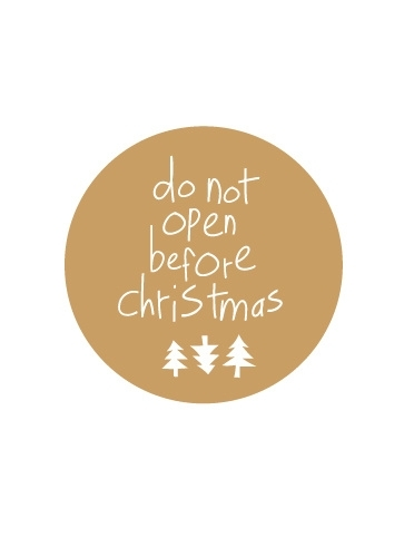 Stickers do not open before christmas - gold/white