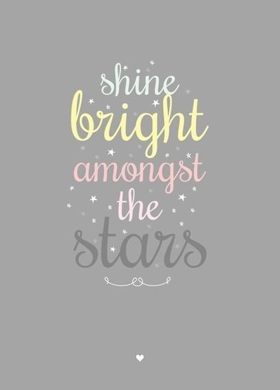Postcard Shine Bright