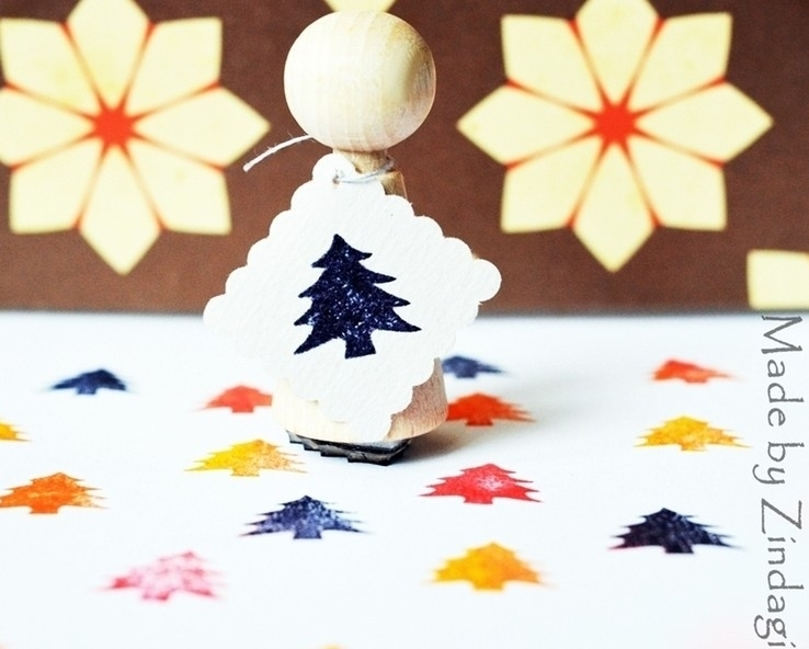 Mini stamp - Christmastree