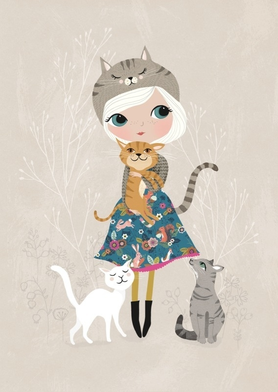 Rebecca Jones | Ansichtkaart Cat Lover