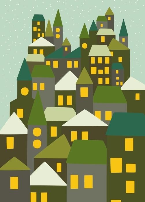 Postcard City Green
