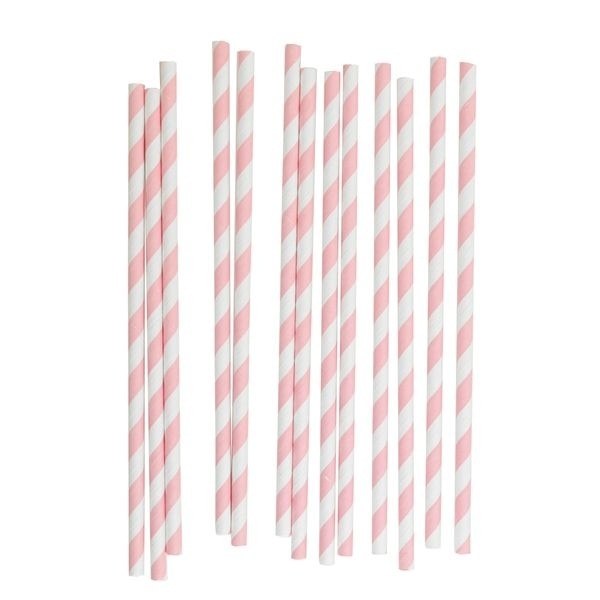 Paper Straws - Babypink