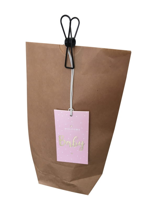 Gift Tag Welcome Baby - Pink