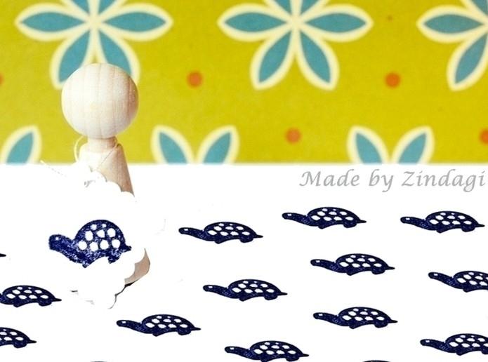 Mini stempel - Schildpad