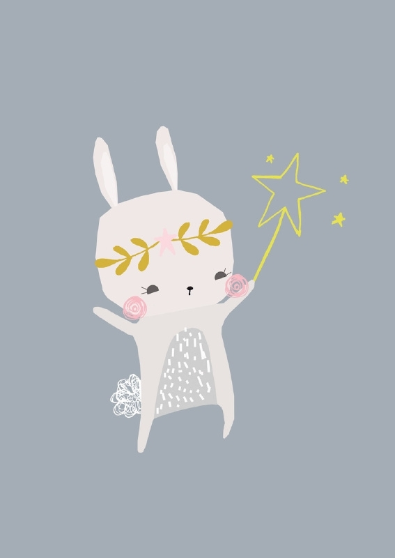 Vicky Riley | Ansichtkaart Magical Bunny