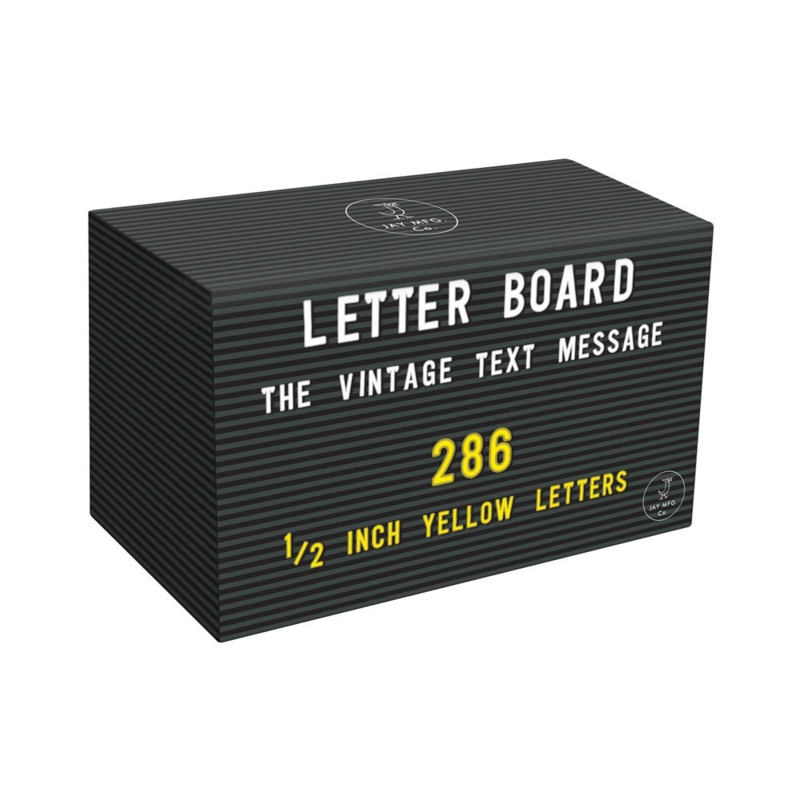 Extra letter set JAY