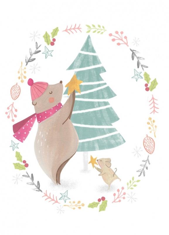 Bianca Pozzi | Ansichtkaart Christmas Tree