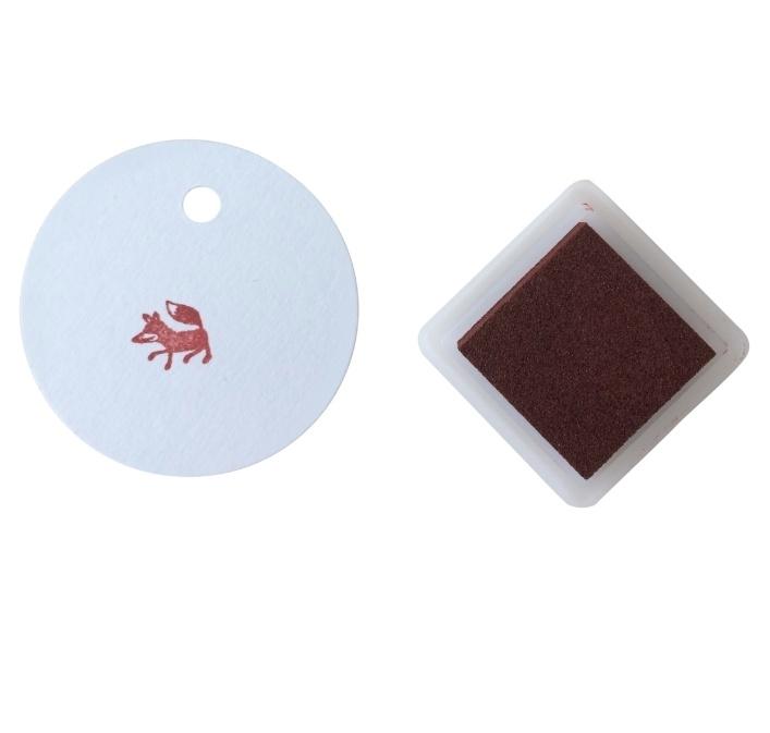 Stempelkussentje bruin - brown