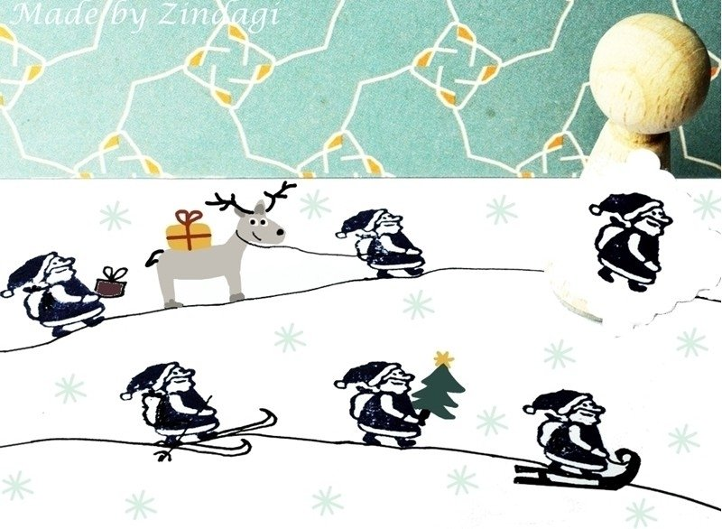 Mini Stempel - Kerstman