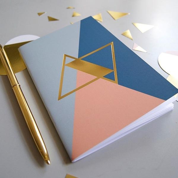 Gold notebook - blue