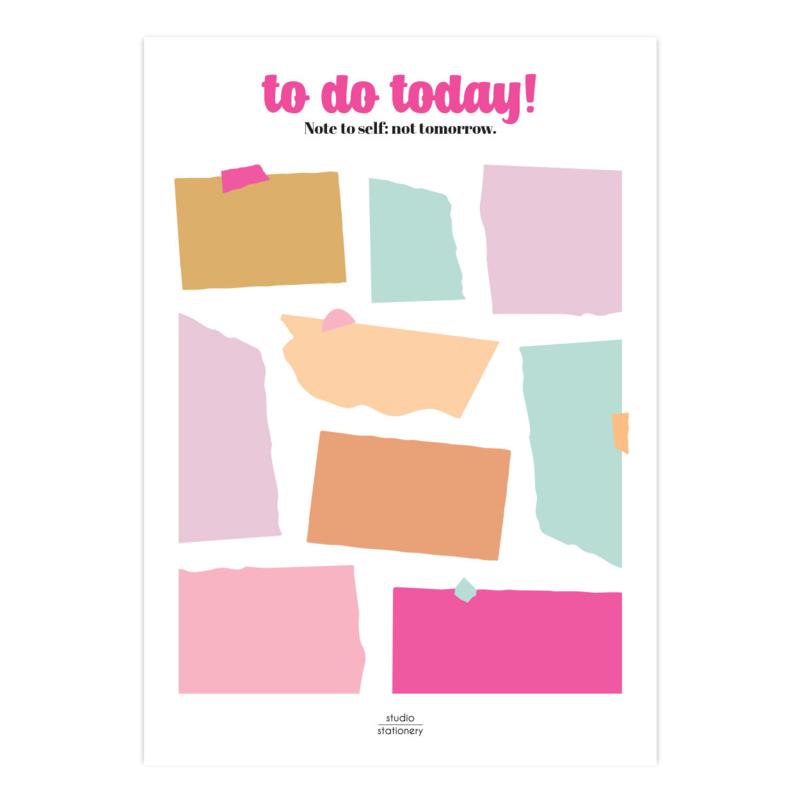 A5 Noteblock To do today Multicolor