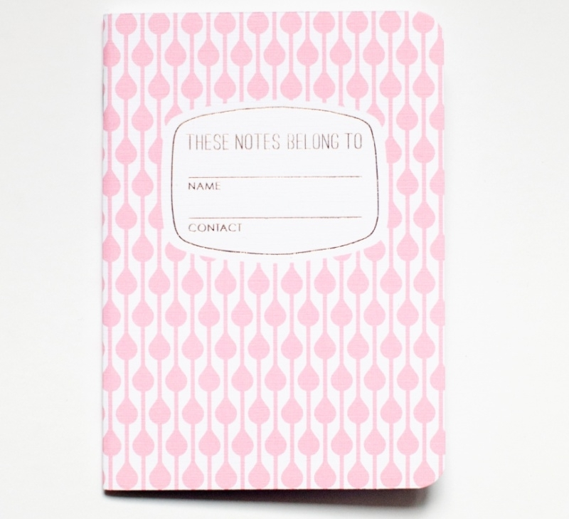 These notes belong to - light pink