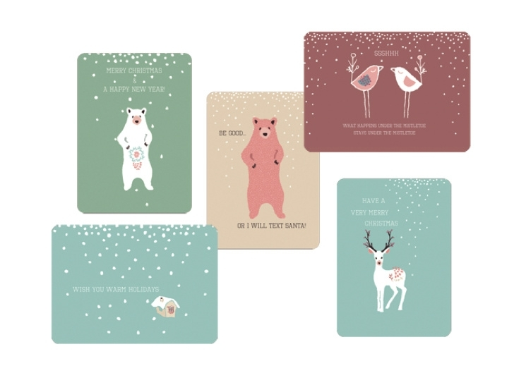 Christmas Card Set Mix of Cuteness