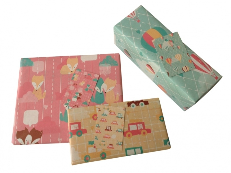 Pastel Wrapping Paper - set