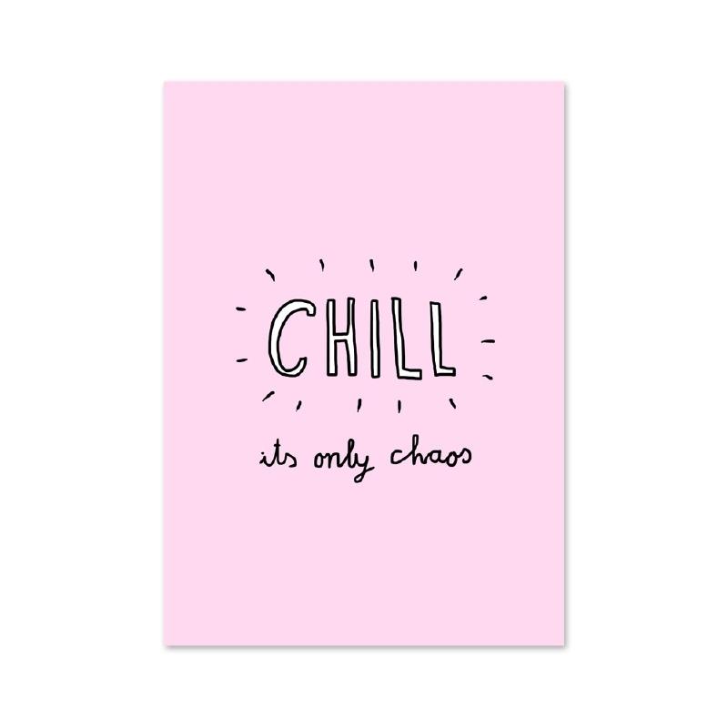 Postcard Beautiful chaos - Chill