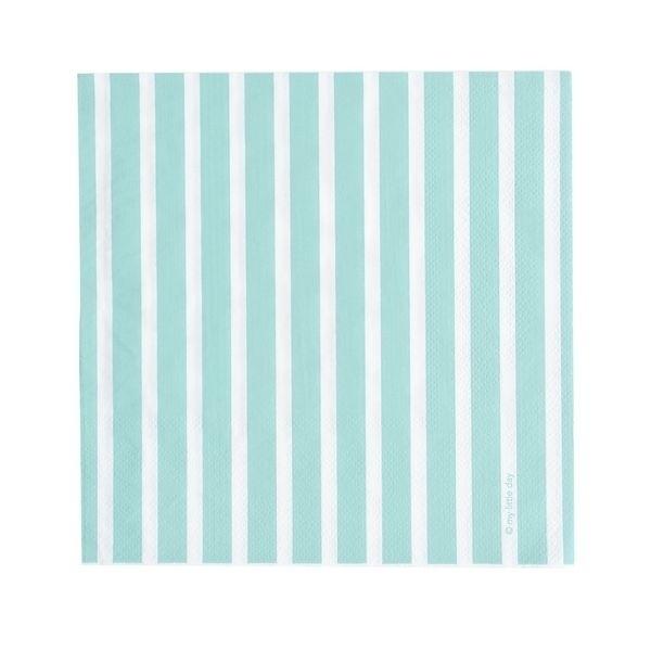Papieren servetten - blauw