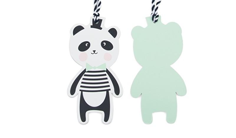 Paper Tags Panda