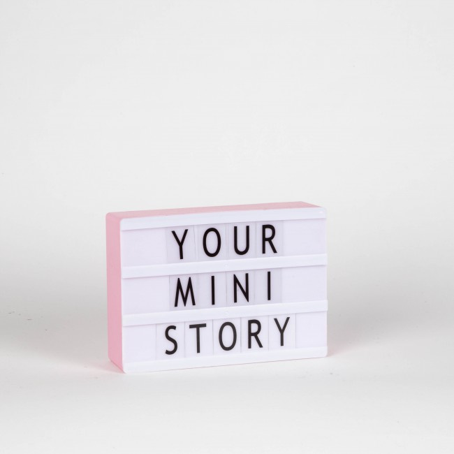 MINI LIGHTBOX A6 - pink