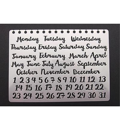 Stencil Bulletjournal month/days