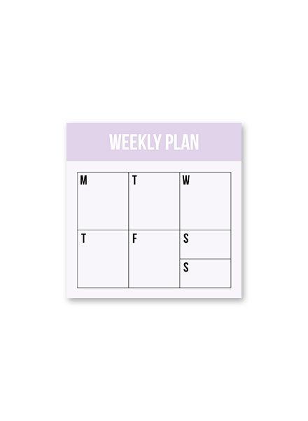 Studio Stationery Mini Weekly plan