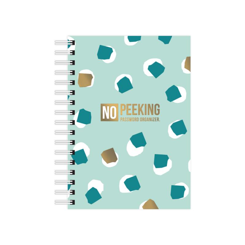 A6 Notebook softcover No Peeking - Password organizer