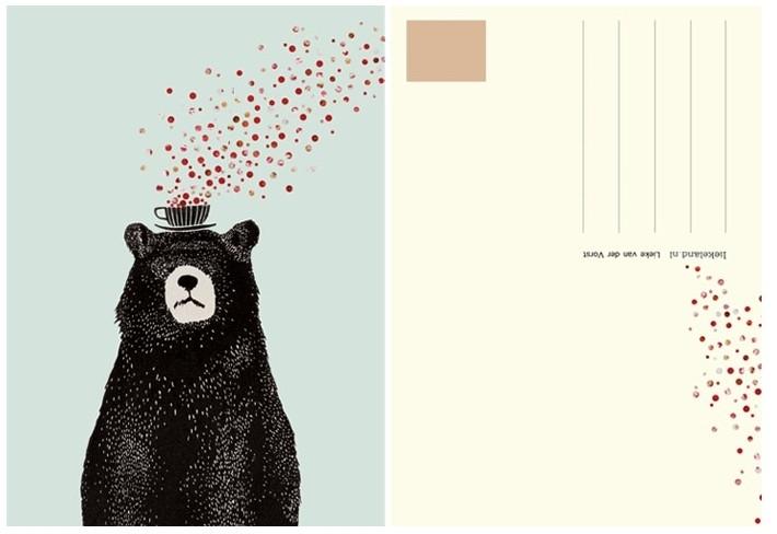 Postcard Bear - Liekeland