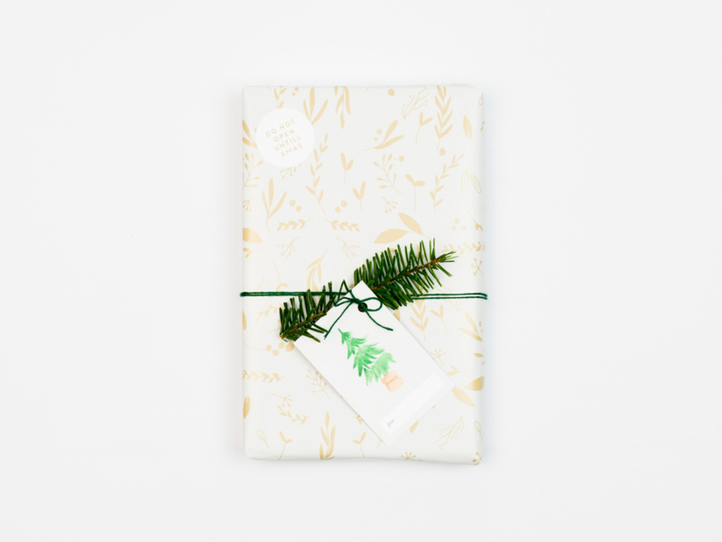 Wrapping paper Leaves