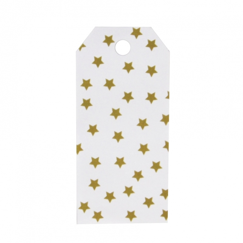 Gift tags - gold star