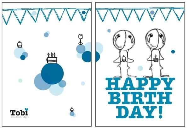 Happy Birthday Tobi Feest - Blauw