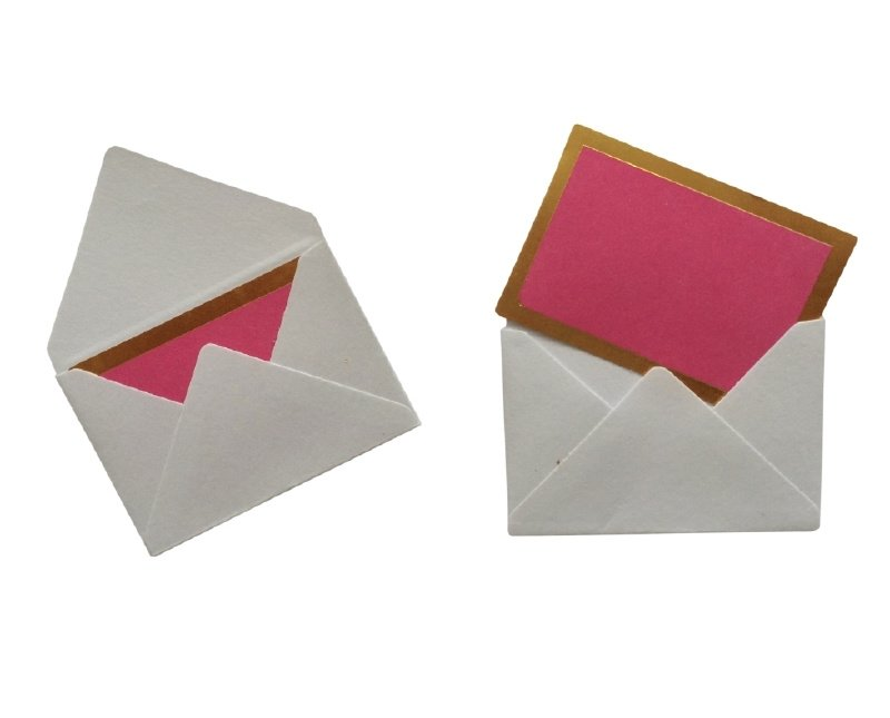 Mini envelopjes - Wit .10