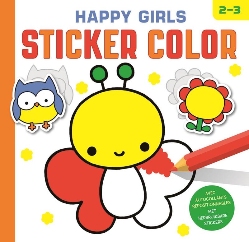 Happy Girls Sticker Color - 2 tot 3 jaar