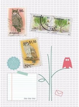 Postkaart uilen
