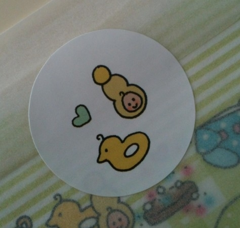 Sticker Baby oil and duck