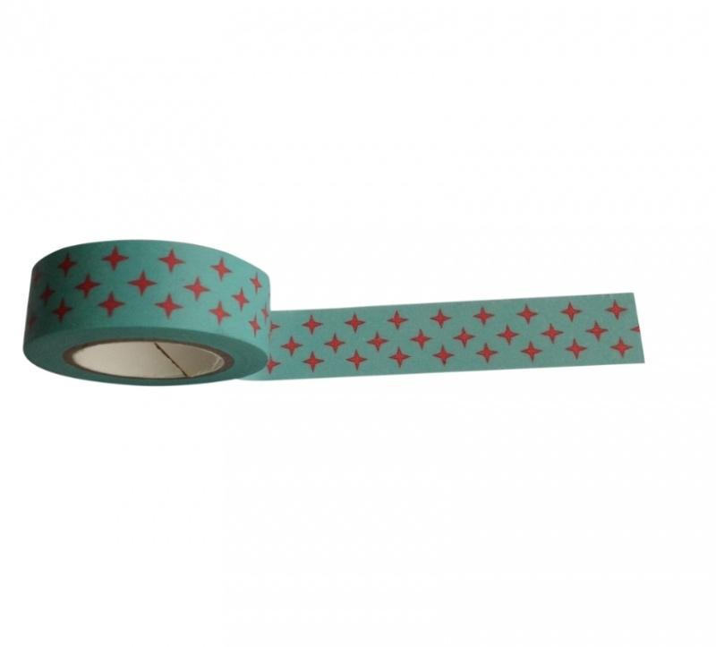 Masking Tape Kerstig Sterretjes