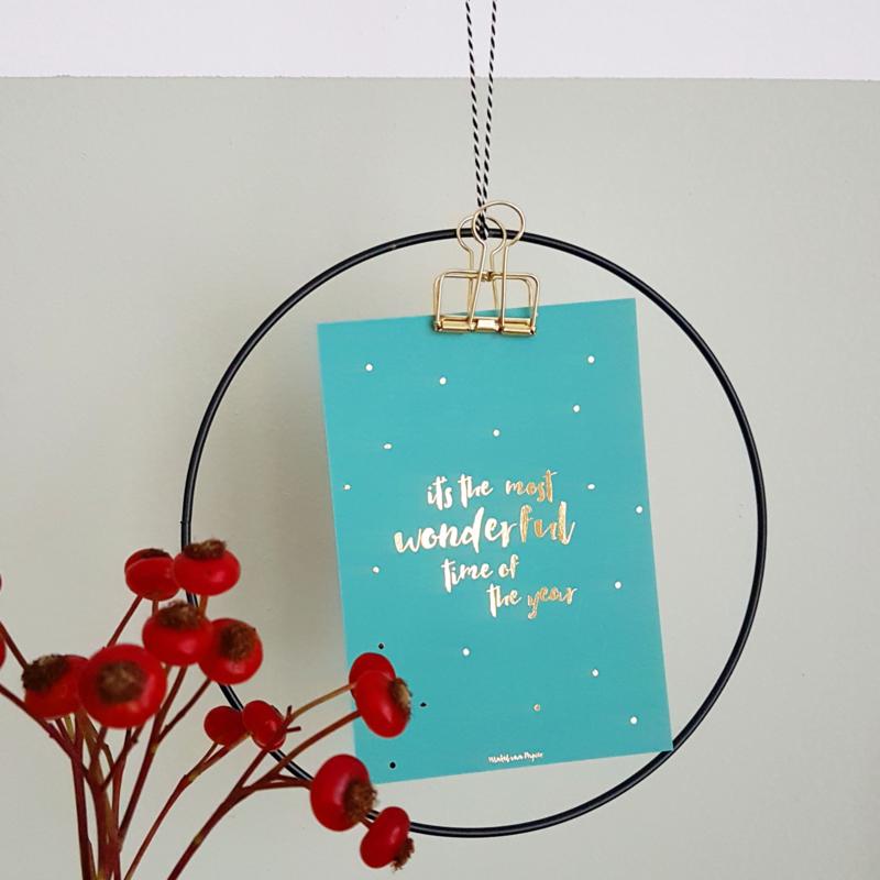 Christmas card WONDERFUL TIME