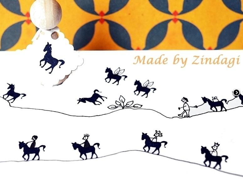 Mini stamp - Horse