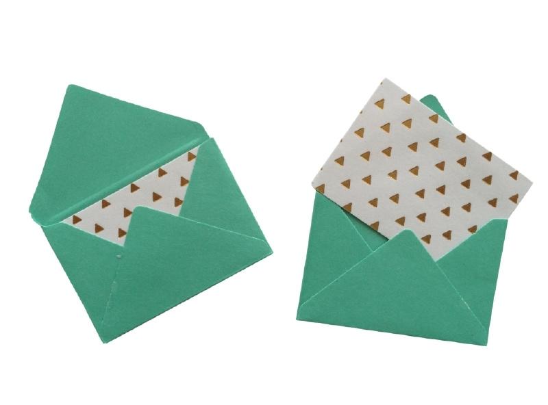 Mini envelopjes - Turquoise .17