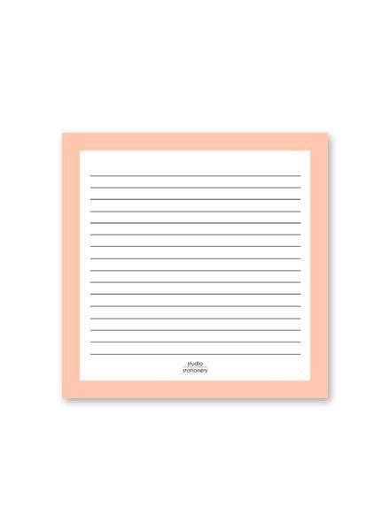 Notepad Square Pink