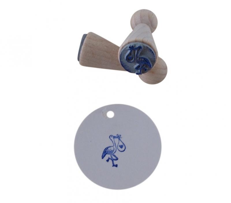 Mini stempel - Ooievaar