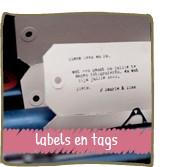 labels & tags winkel van papier