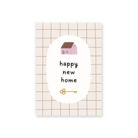 Leonie van der Laan postkaart Happy new home