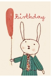Maileg kaartje Happy birthday jongen