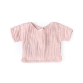 Nuki-Nuby poppenshirt shirtje oudroze muslin