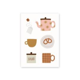 Leonie van der Laan postkaart teatime