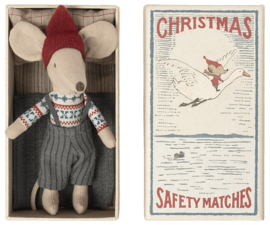 Maileg Christmas mouse in matchbox, Big brother