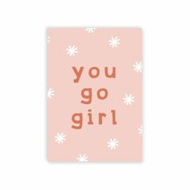 Leonie van der Laan postkaart You go girl