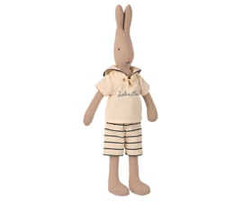 Maileg Rabbit size 2, Sailor offwhite Petrol
