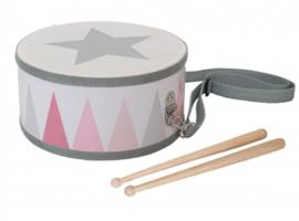 Jabadabado Trommel met stokken (roze)